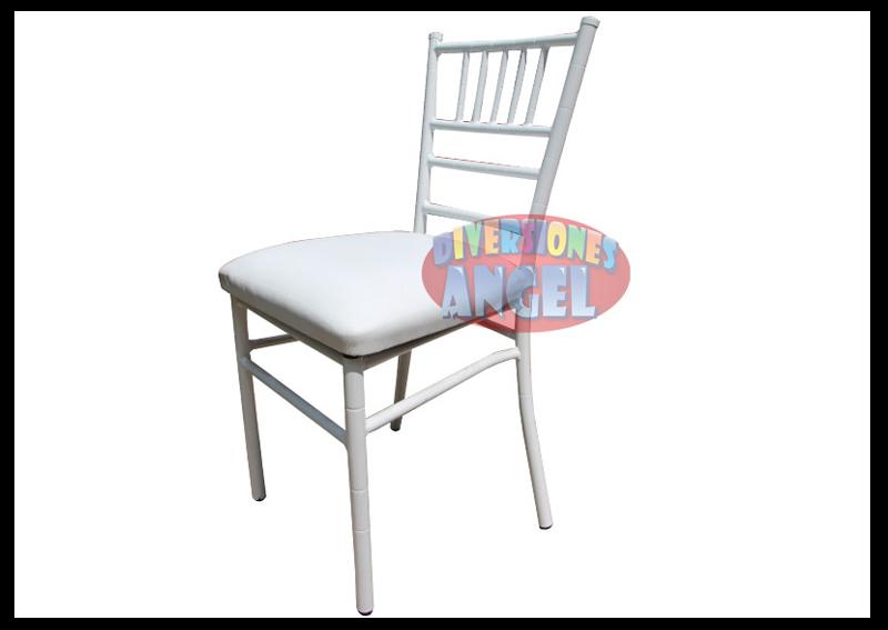 Venta de sillas tiffany acojinadas blancas for Precio de sillas plegables