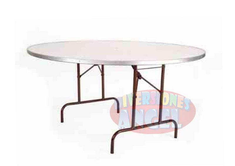 Venta de mesas redondas de plastico abs reforzado for Mesas redondas plegables para eventos