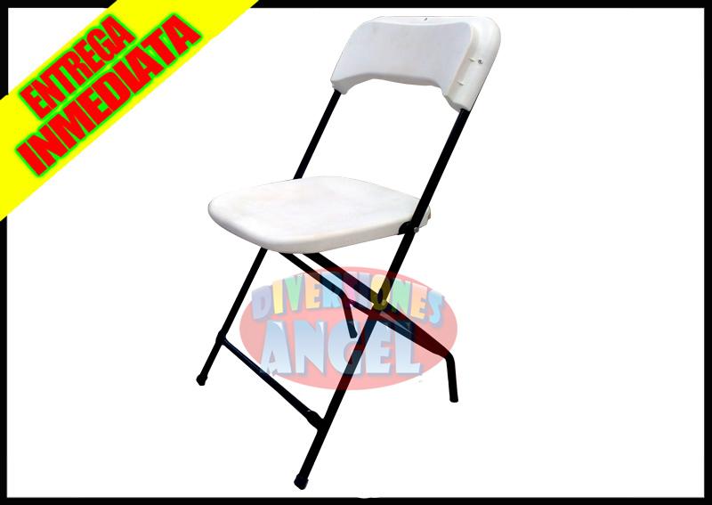 Venta de sillas plegables de plastico blanca for Sillas de plastico precio