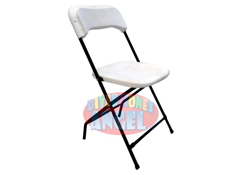 Venta de sillas plegables de plastico blanca for Silla plegable blanca