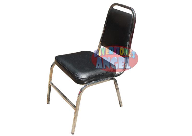 Venta de sillas acojinadas apilables cromadas for Sillas cromadas