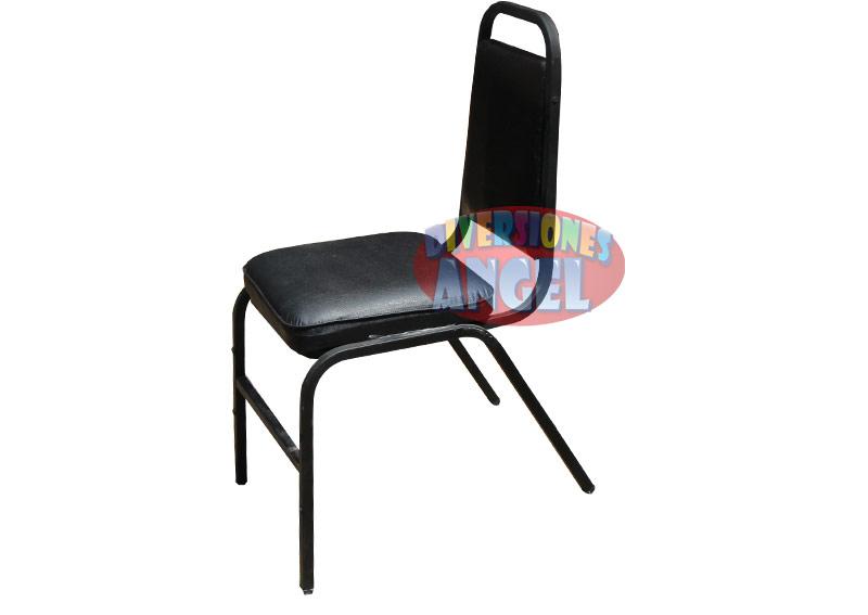 Venta de sillas acojinadas apilables esmaltadas for Precio de sillas plegables
