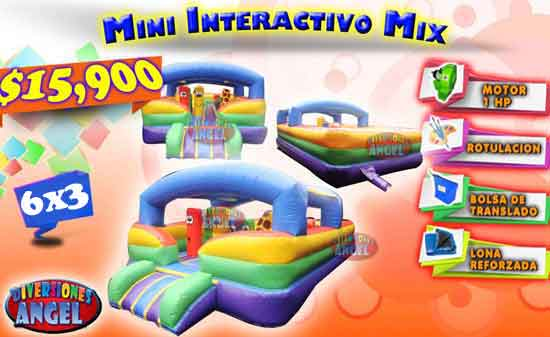 Inflable Mini Interactivo Mix 6x3