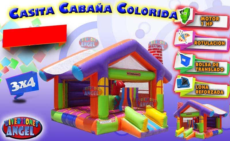 Venta de brincolines inflables casita cabana for Precio de piletas inflables