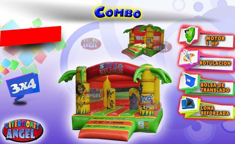 Venta de brincolines inflables combo venta de brincolines for Precio de piletas inflables
