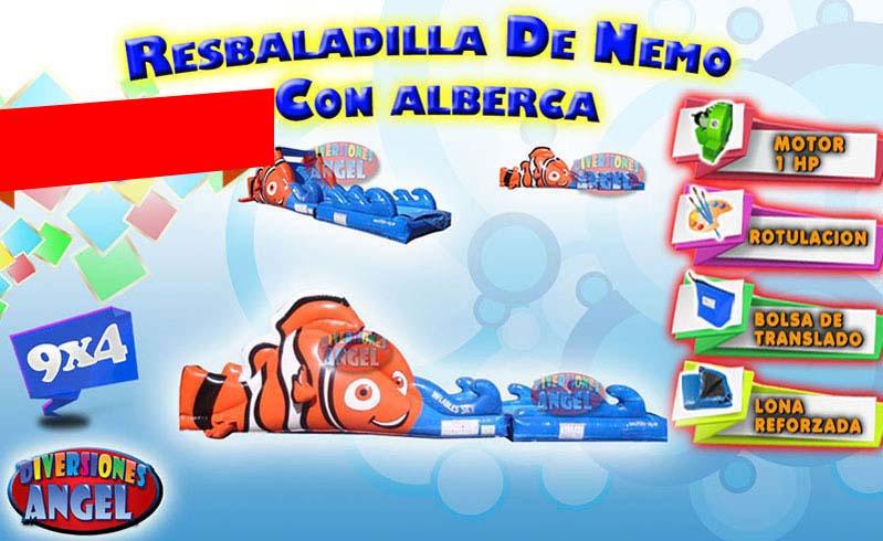 Venta de brincolines inflables resbaladilla de nemo con for Precio de piletas inflables