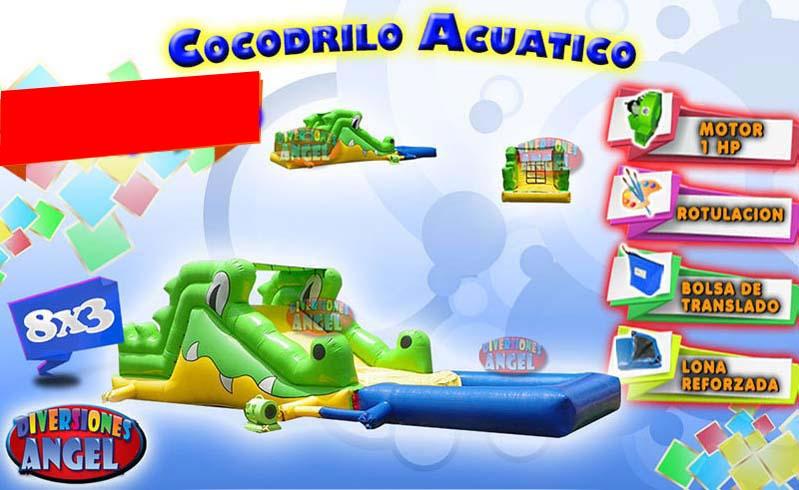 Venta de brincolines inflables cocodrilo acuatico venta for Accesorios para piscinas inflables