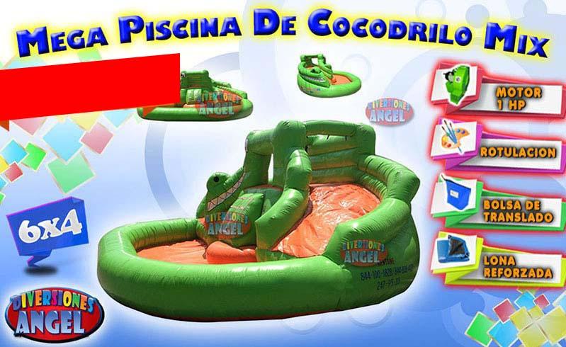Venta De Brincolines Inflables Mega Piscina De Cocodrilo