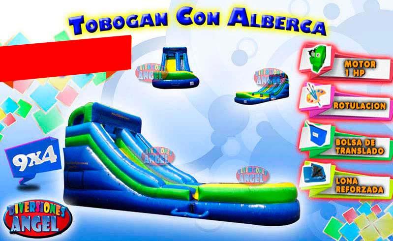 Venta de brincolines inflables tobogan con alberca venta for Precio de piletas inflables