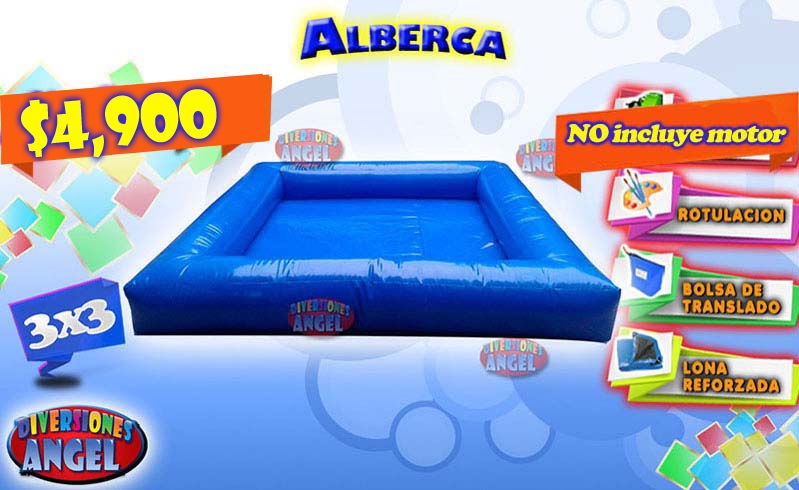 Venta de brincolines inflables alberca venta de for Precio de piletas inflables